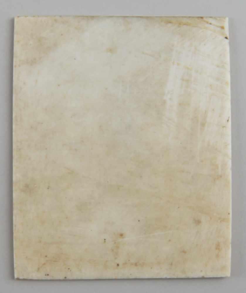 Lot 191 - Feines Portrait auf Elfenbein, Altersspuren, 9,5x8cm- - -24.00 % buyer's premium on the hammer