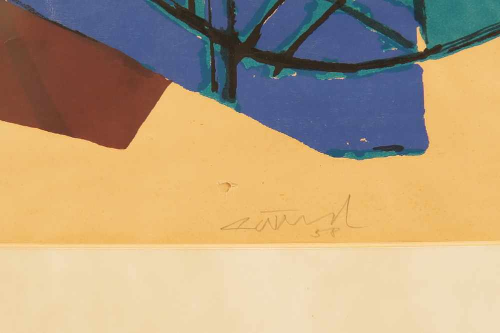 Lot 202 - Gerhard Wind, (1928 Hamburg - 1992 Javea/Alicante), Figuration, auf Papier, im PP,signiert,