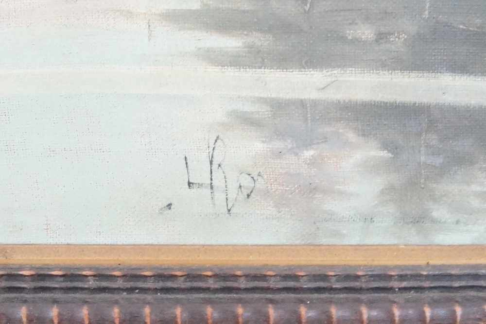 Lot 192 - Monte Cervine, Leonardo Roda (?), Öl auf Leinwand, gerahmt, signiert, 93x123cm- - -24.00 % buyer's