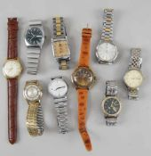 Konvolut von 9 Herren - Armbanduhren, u.a. Junghans, Dugena, Kienzle- - -24.00 % buyer's premium