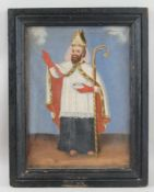Heiliger Nikolaus, Öl auf Leinwand, gerahmt, signiert, 19. JH, 45x35,5cm- - -24.00 % buyer's premium