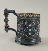 Gustav Klingert, Russland/Moskau um 1900, Jugendstil Teeglashalter, mehrfach gepunzt, 881893,