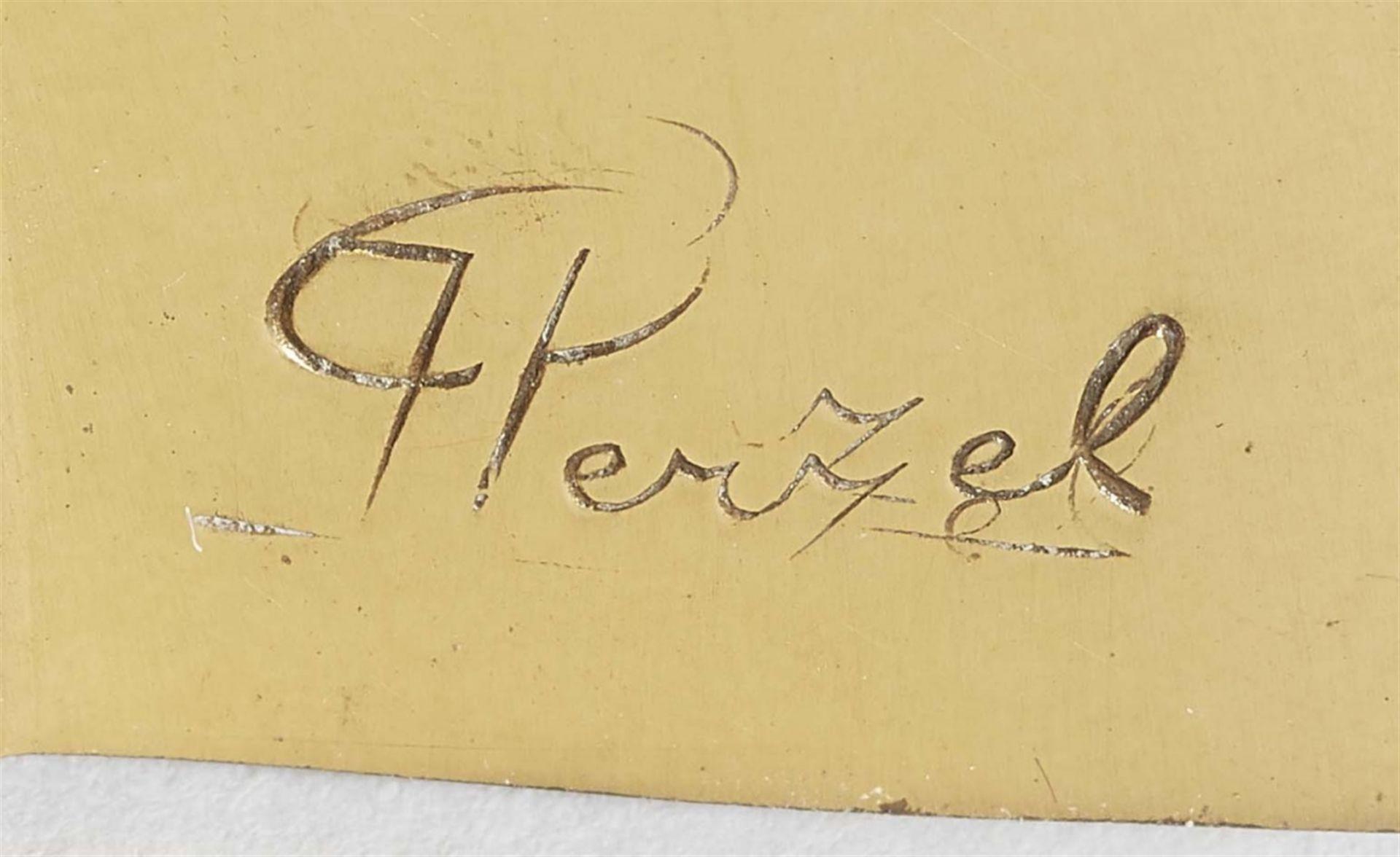 Paar Appliques von Jean PerzelSatiniertes Glas und geschliffenes Klarglas, vergoldete, innen - Bild 2 aus 2
