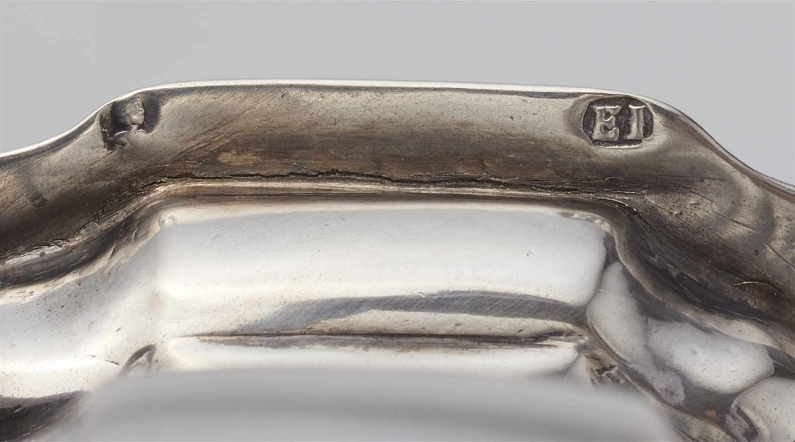 Lot 323 - An Augsburg silver sugar casterBaluster form caster, the pierced upper section with a minor loss.