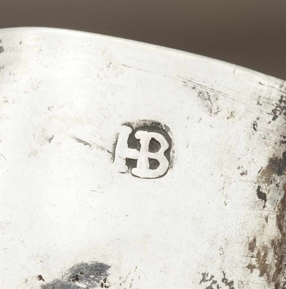 Lot 316 - An Augsburg parcel gilt silver brandy bowlScalloped oval dish with scroll handles decorated to the
