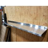 "Lot 28 - 16"" x 90"" Stainless Steel Wall Shelf"