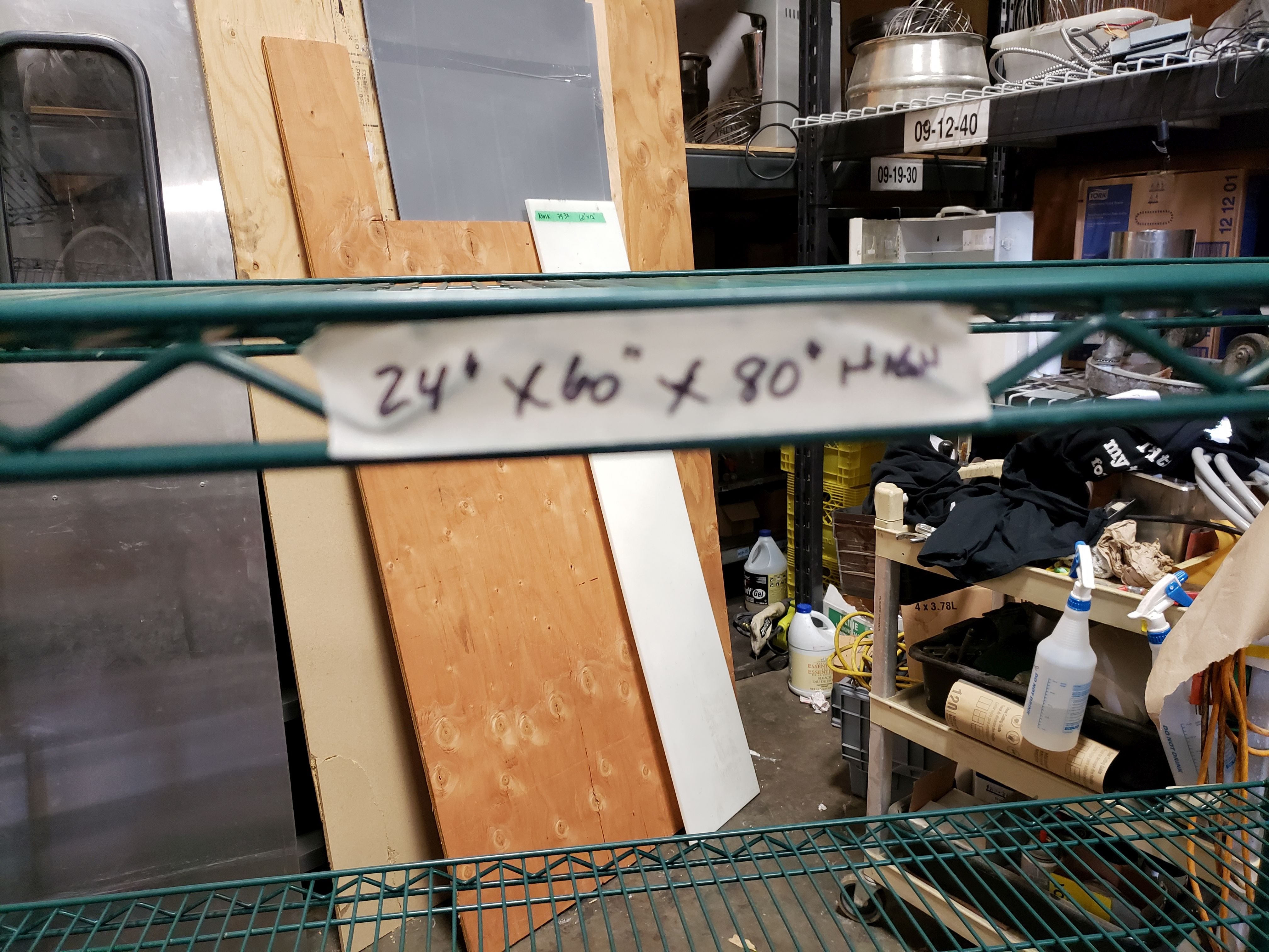 "Lot 13 - 24"" x 60"" x 80"" High Green Epoxy 4 Shelf Rack on Casters"