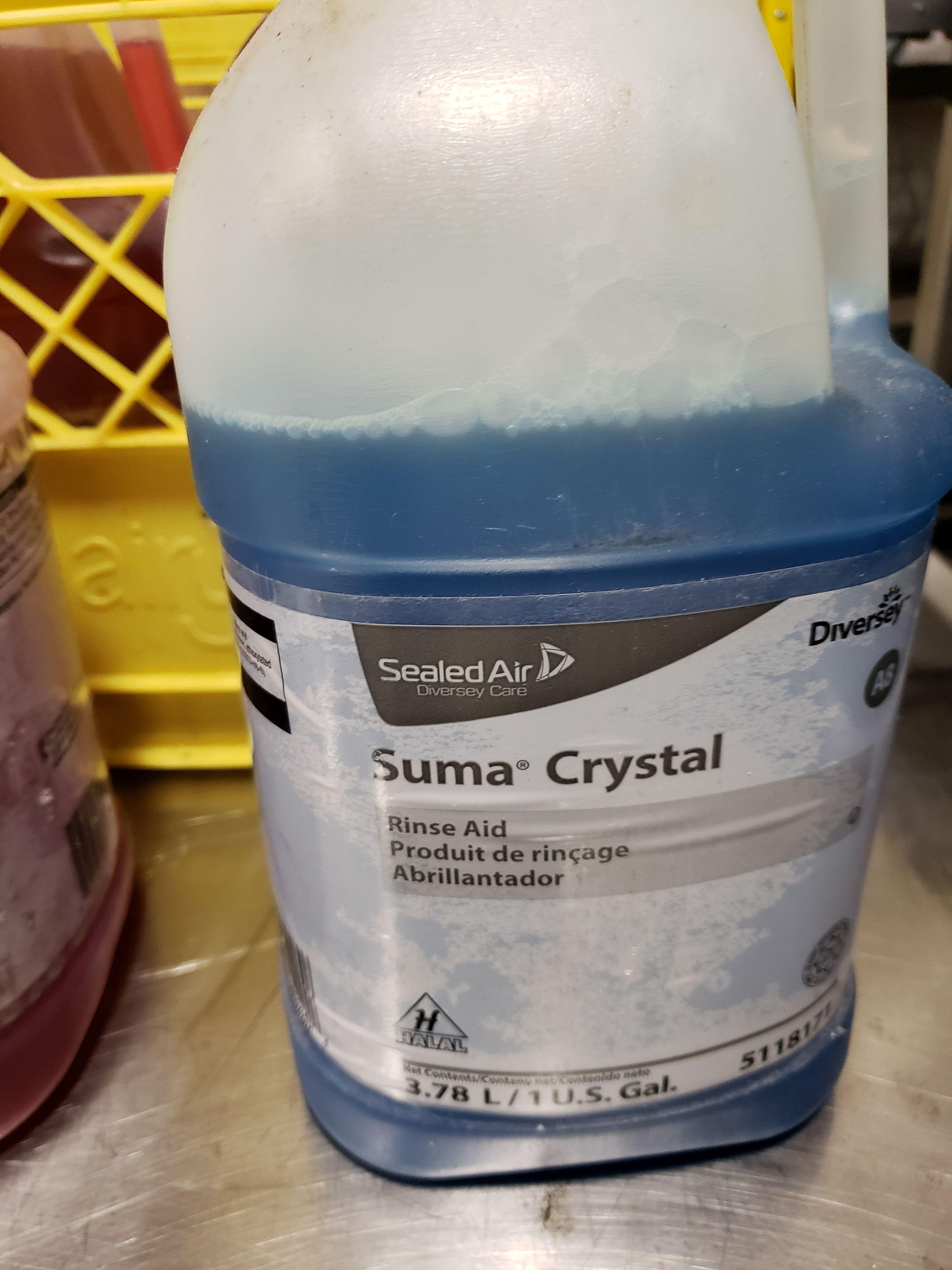Lot 4 - Diversey Machine Dish Detergent & Suma Rinse Aid - 4 Jugs