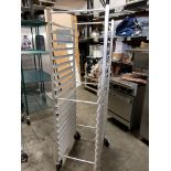 Lot 30 - Aluminum 20 Pan Sheet Pan Rack on Casters - Advance Tabco
