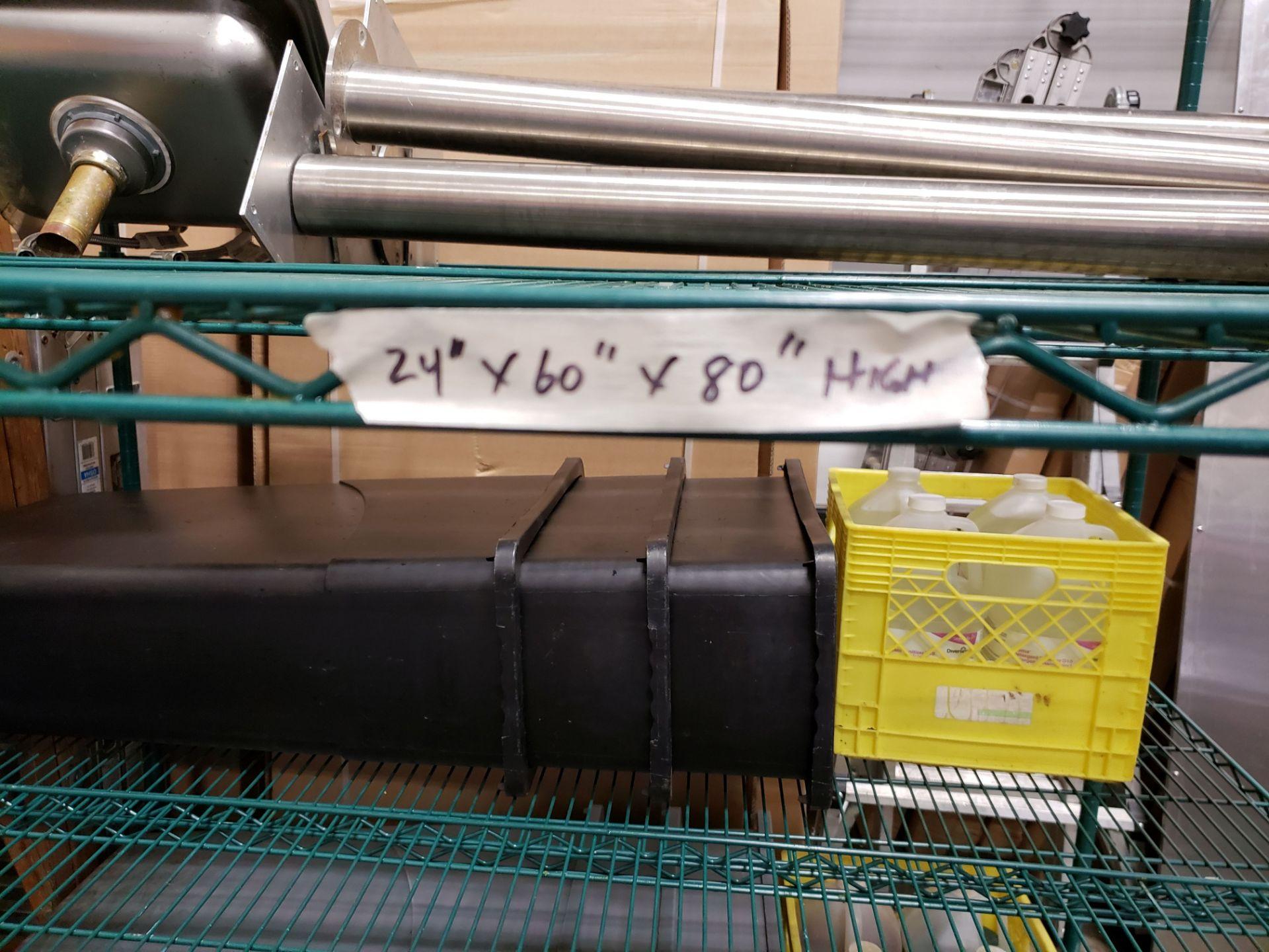 "Lot 10 - 24"" x 60"" x 80"" High Green Epoxy 4 Shelf Rack on Casters"
