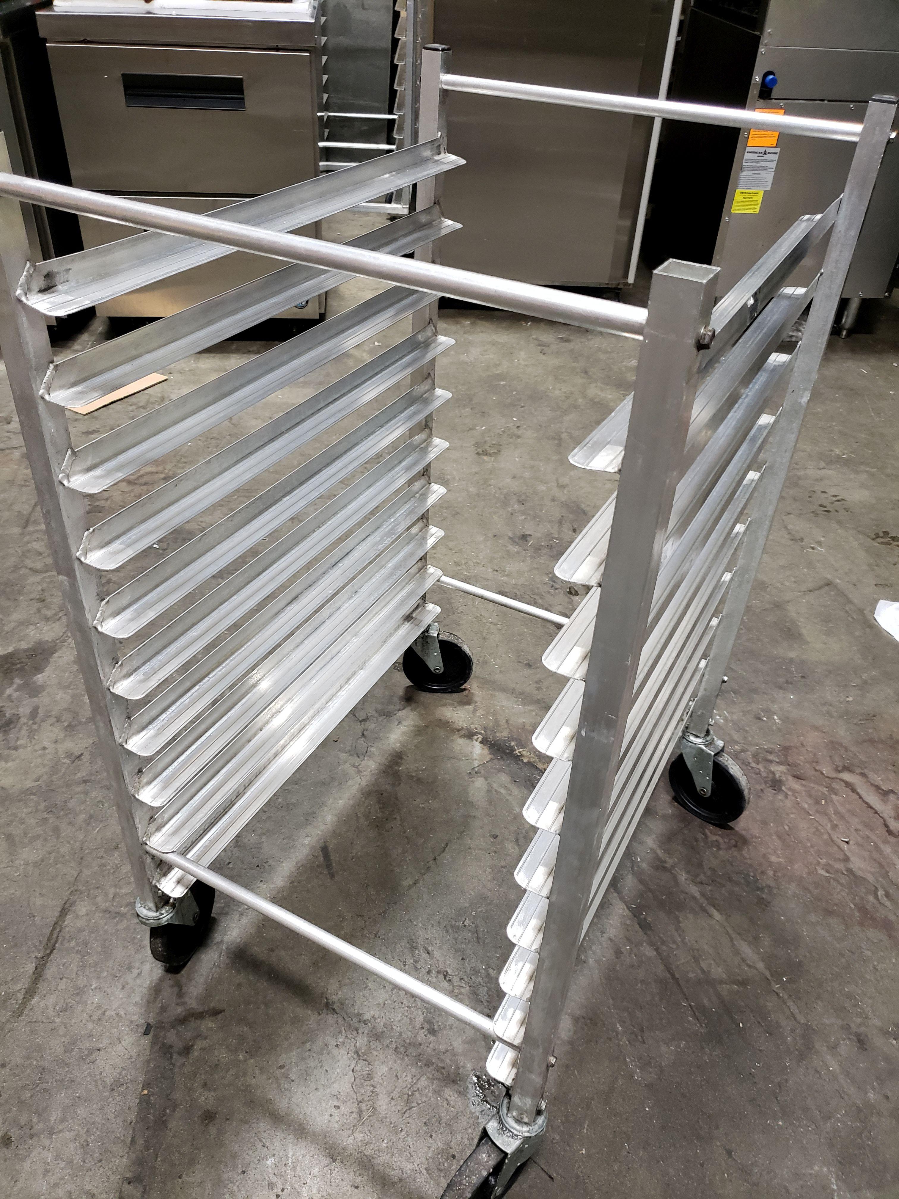Lot 32 - Aluminum 10 Pan Sheet Pan Rack on Casters - Advance Tabco