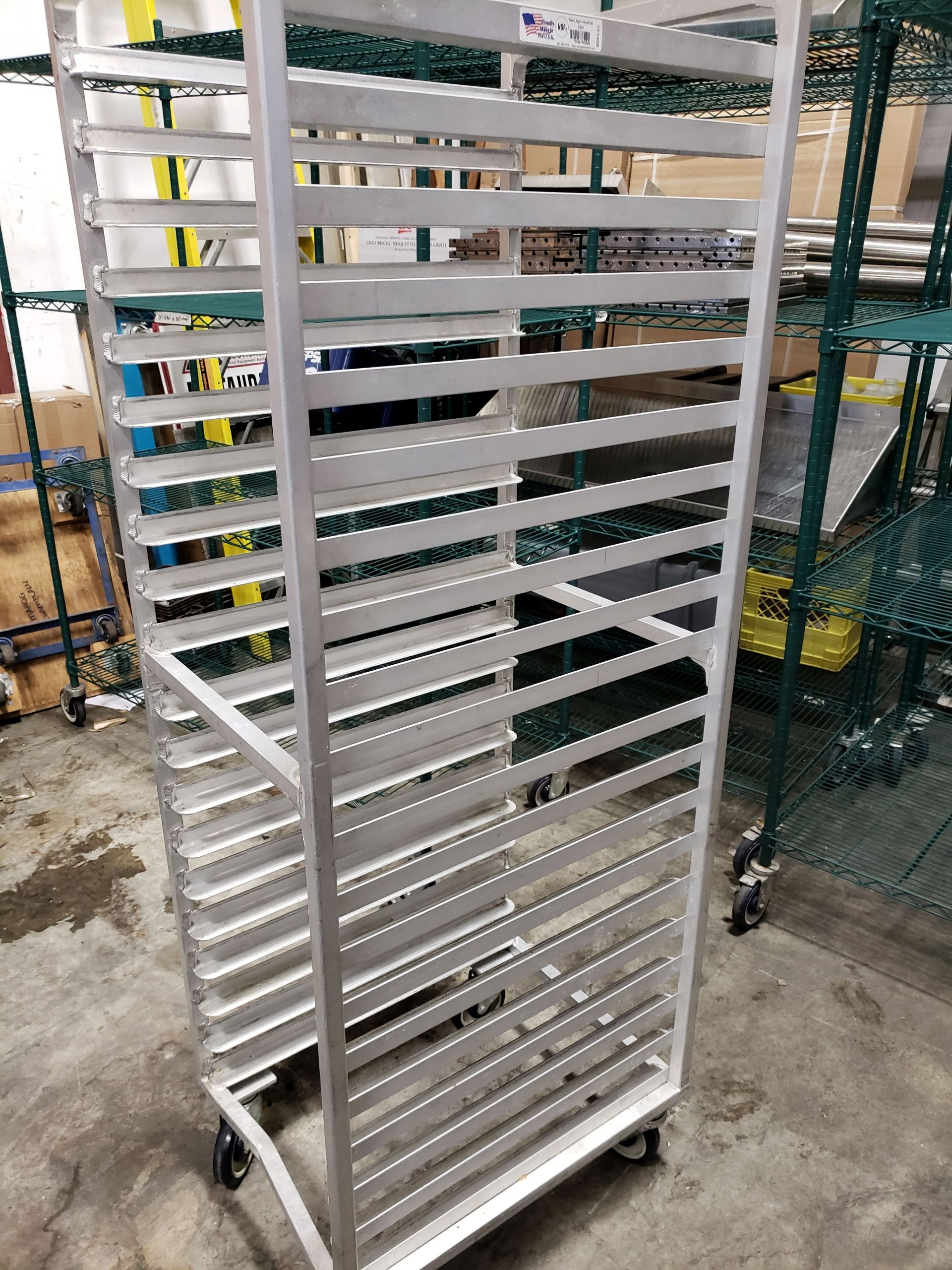Lot 31 - Aluminum 20 Pan Sheet Pan Rack on Casters - New Age Industries