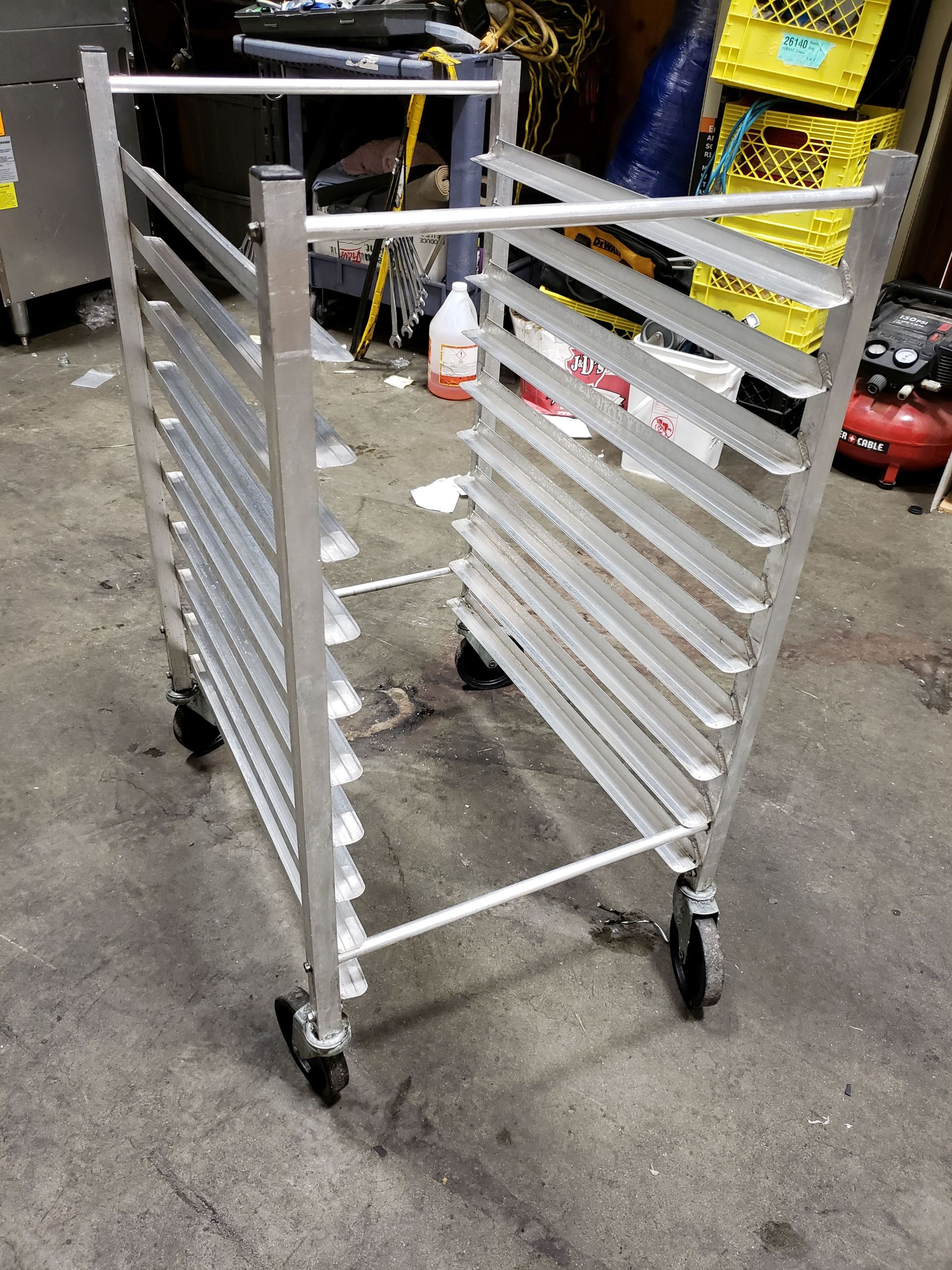 Lot 32 - Aluminum 10 Pan Sheet Pan Rack on Casters - Advance Tabco