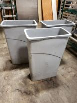 "Lot 2 - Grey 10"" x 20"" Rubbermaid Waste / Recycle Bins - Lot of 3"