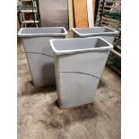"""Lot 2 - Grey 10"""" x 20"""" Rubbermaid Waste / Recycle Bins - Lot of 3"""