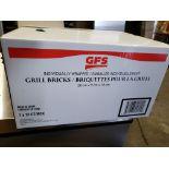 Lot 5 - GFS Grill Bricks - Case of 12