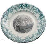 Lot 3608 - Commemorative dessert plate in earthenware