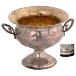 Lot 3584 - Silver gilt cup on pedestal base