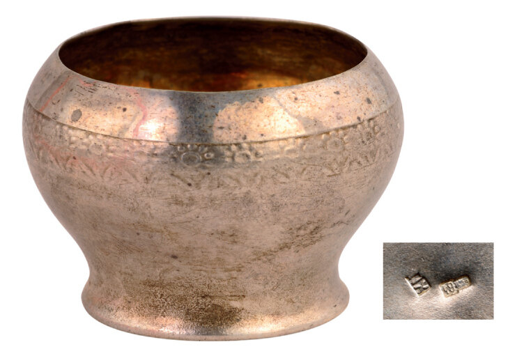 Lot 3565 - Small silver saltcellar (salt or spices)
