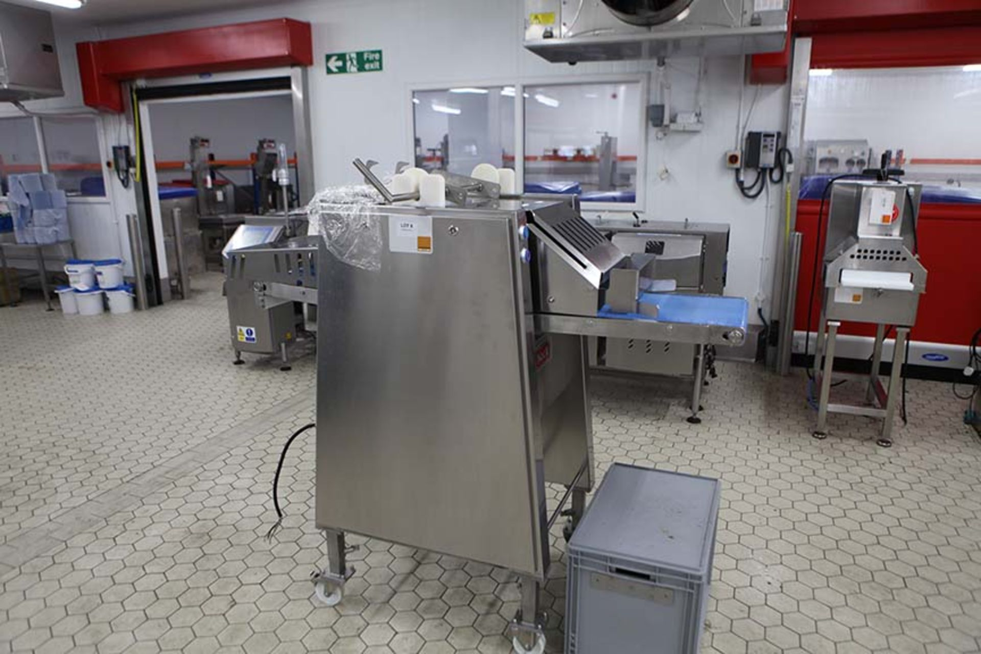 Lot 8 - NOCK CB435-4E Compact Slicer 2017 Sn 2856740 with Blade storage unit