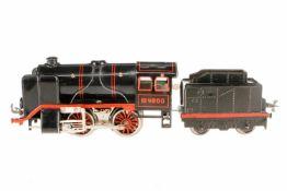 Bub B-Dampflok 4800, S 0, elektr., schwarz, mit Tender, LS, Z 2-3