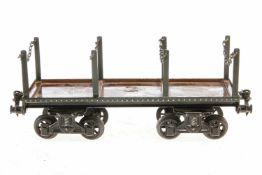 Bing Rungenwagen, S 1, mit Märklin Kupplungen, nachlackiert, L 25, Z 3