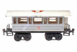 Märklin Sani-Wagen 1848 P, S 1, uralt, HL, 2 AT, 4A, mit Inneneinrichtung und 8 Tragbahren, auf 1