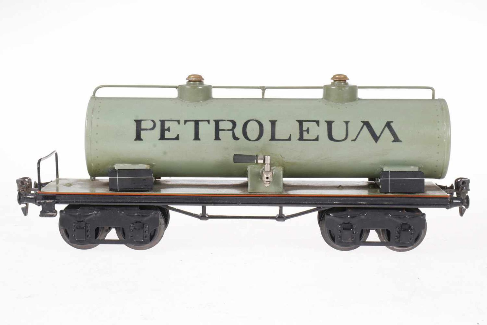 Märklin Petroleum Kesselwagen 1954, S 1, HL, Geländer gelötet, LS tw ausgebessert, L 32, sonst