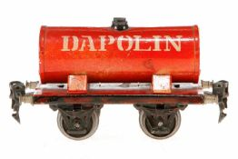 Märklin Dapolin Kesselwagen 1973, S 0, HL, 1 Delle in Kessel, LS tw ausgebessert, gealterter Lack, L