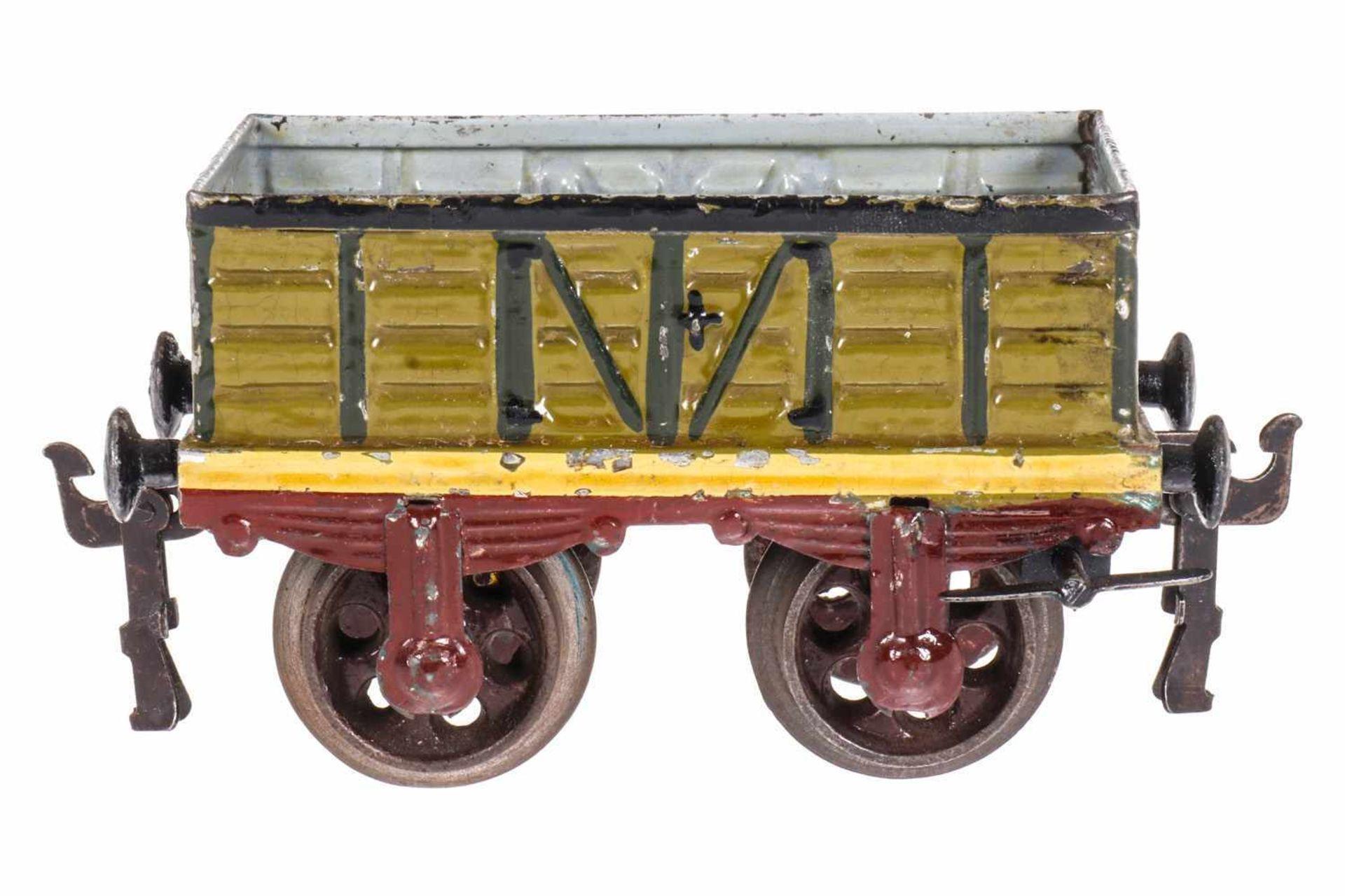Märklin offener Güterwagen mit automatischer Bremse 1820, S 1, uralt, HL, L 13, Z 2