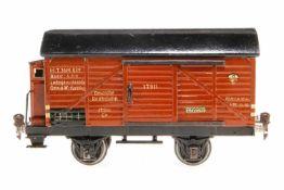 Märklin Prototyp Modell-Güterwagen 1791, S 1, HL, mit BRH und 2 ST, komplett gelötet, LS und