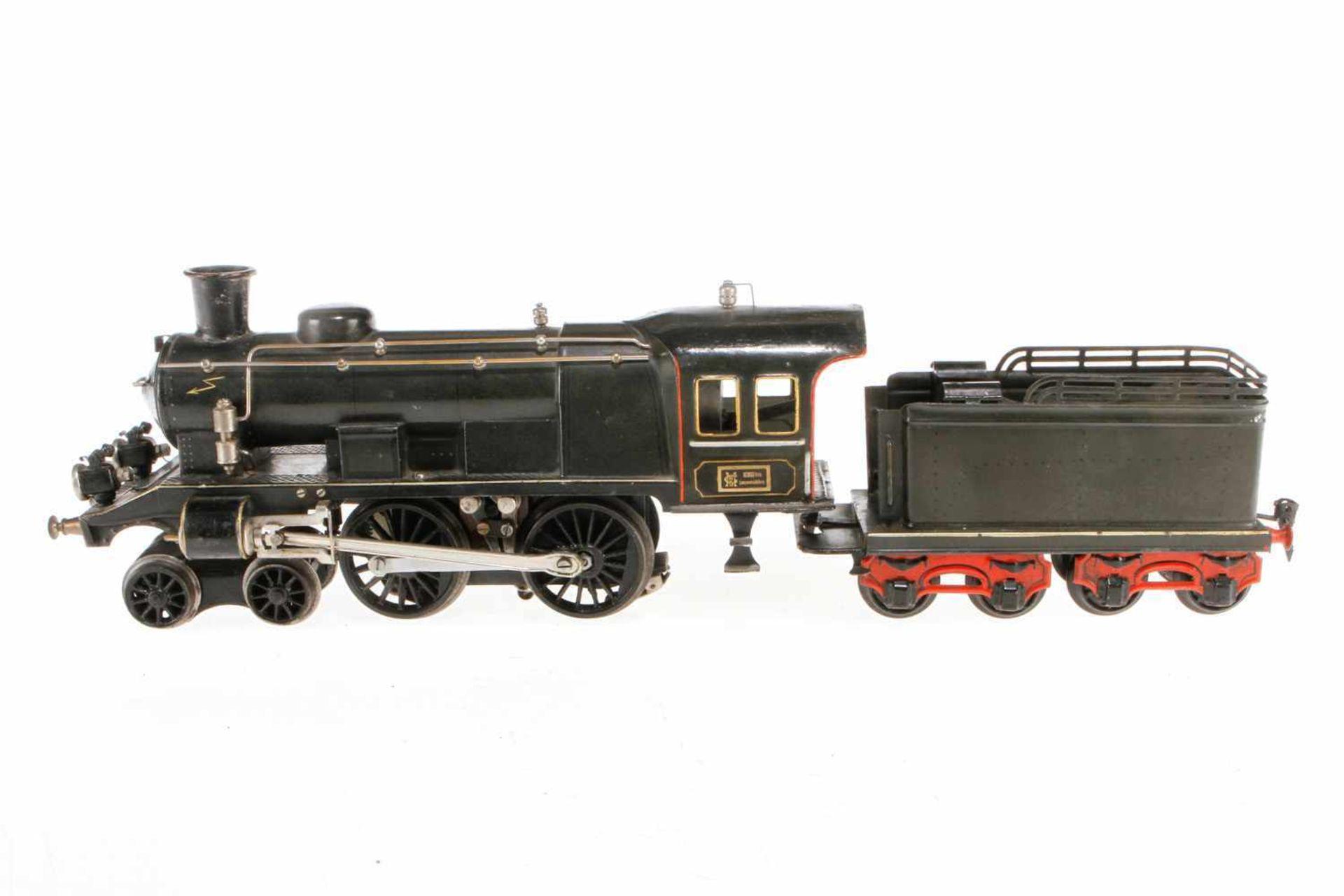 Märklin 2-B Dampflok EE 64/3021, S 1, Starkstrom, HL, mit Tender und 2 el. bel. Stirnlampen, 1 imit.