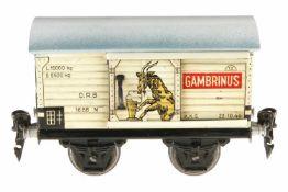Märklin Gambrinus Bierwagen 1688, S 0, CL, 1 ST, Dach ersetzt, L 13, sonst Z 2