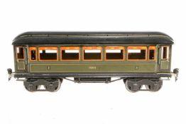 Märklin Personenwagen 1886, S 1, CL, mit 4 AT, ohne Scheiben, LS und gealterter Lack, L 33, Z 2-3