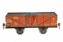 Märklin offener Güterwagen 1765, S 1, CL, mit 2x 2 LT, LS, gealterter Lack, tw Lagerspuren, L 24,