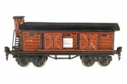 Märklin gedeckter Güterwagen 1956, S 0, HL, 4 ST, BRHh, Alterungsspuren, L 21,5, noch Z 2