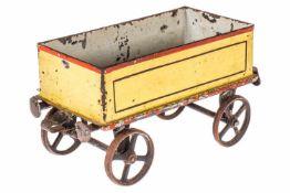 Lutz? offener Güterwagen, als Bodenläufer, uralt, HL, Gussräder, Alterungsspuren, L 15, noch Z 2