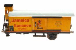 Märklin Bananenwagen 1992, S 1, HL, mit BRHh und 2 ST, 1 Achslager und 1 Radsatz fehlen, L 24, zum