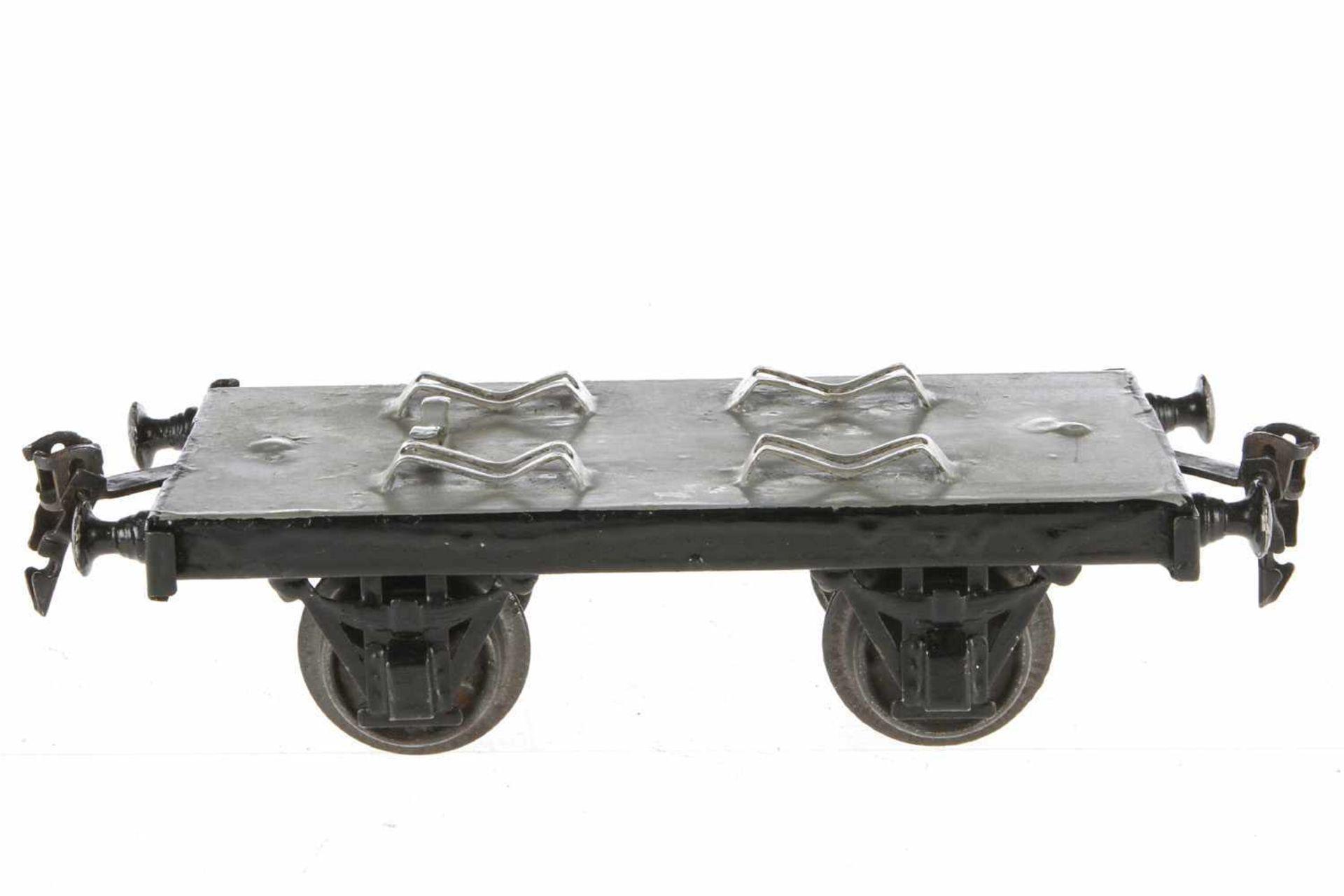 Märklin Militär-Plattformwagen 1825, S 1, uralt, HL, LS tw ausgebessert, L 18, Z 2-3