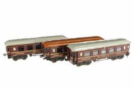 Bing 3-teiliger Zug, S 0, HL, mit 2 Mitropa Speisewagen und 1 Schlafwagen, je mit