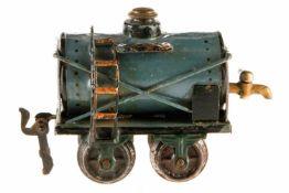 Märklin amerikanischer Petroleumwagen 1812, S 0, uralt, HL, mit fremdem Hahn, 1 Kupplung fehlt, LS