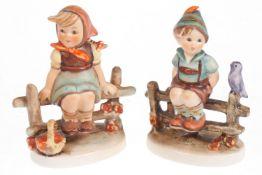 """Hummel Figurenpaar """"Vaters G`scheitester"""" und """"Mutters Liebste"""", Modellnr. 111 3/0 und 112 3/0, 2."""