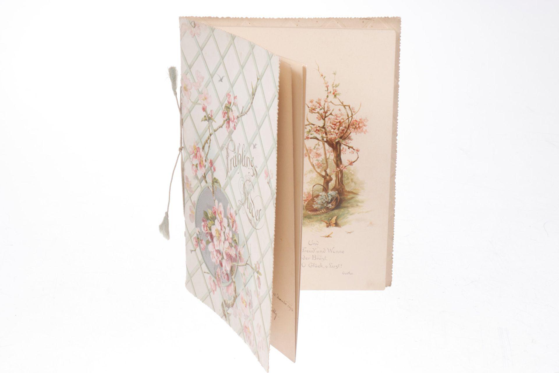 Poesiealbum mit Frühlingsliedern, 1894