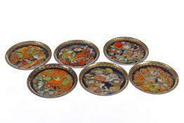 """Sammlung von 6 Rosenthal Porzellan Wandtellern, """"Aladin"""" Serie, Wunderlampe 1-3 und 5-7, Designer:"""