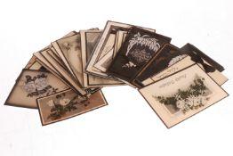 Konv. ca. 50 Trauerkarten, um 1900 bis ca. 1940, Alterungs- und Gebrauchsspuren