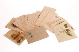 Konv. ca. 20 Glückwunschkarten, um 1900 und später, leichte Alterungs- und Gebrauchsspuren