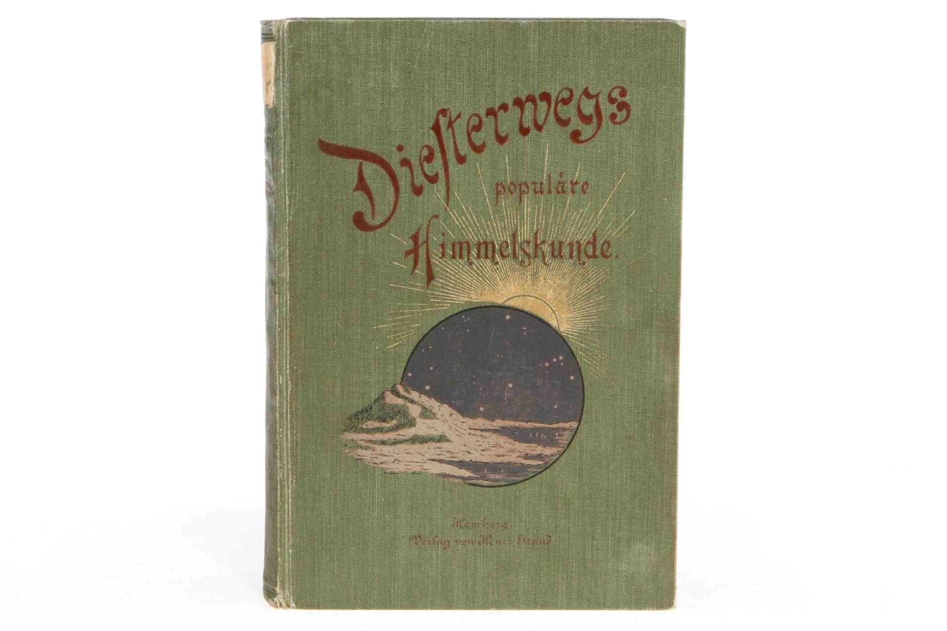 """Buch """"Diesterwegs populäre Himmelskunde"""", 1909, 458 Seiten, Alterungsspuren"""