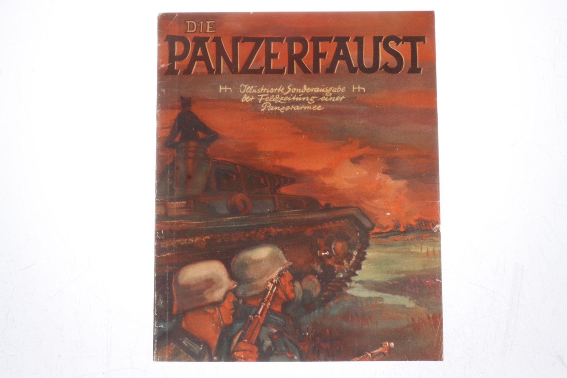 """""""Die Panzerfaust"""", illustrierte Sonderausgabe der Feldzeitung einer Panzerarmee, Jahrgang 1942,"""