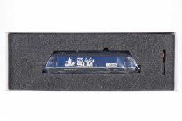 """Hag E-Lok """"Re 4/4 BLS Typ 465 SLM 125 Jahre"""" 184, S H0, blau, OK, Z 1-2"""