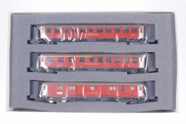 "Hag Wagenset ""SOB"" 66008, S H0, komplett, rot, OK, Z 1-2"